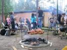 opékání na ohništi